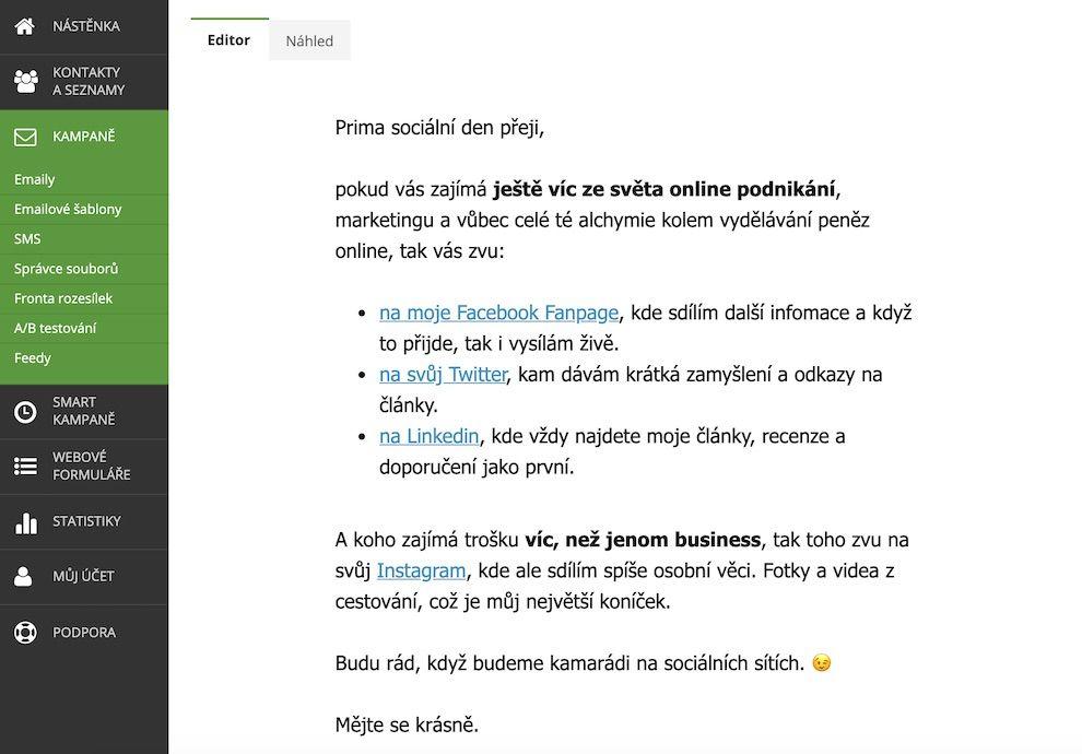 Marketing naFacebooku budování publika