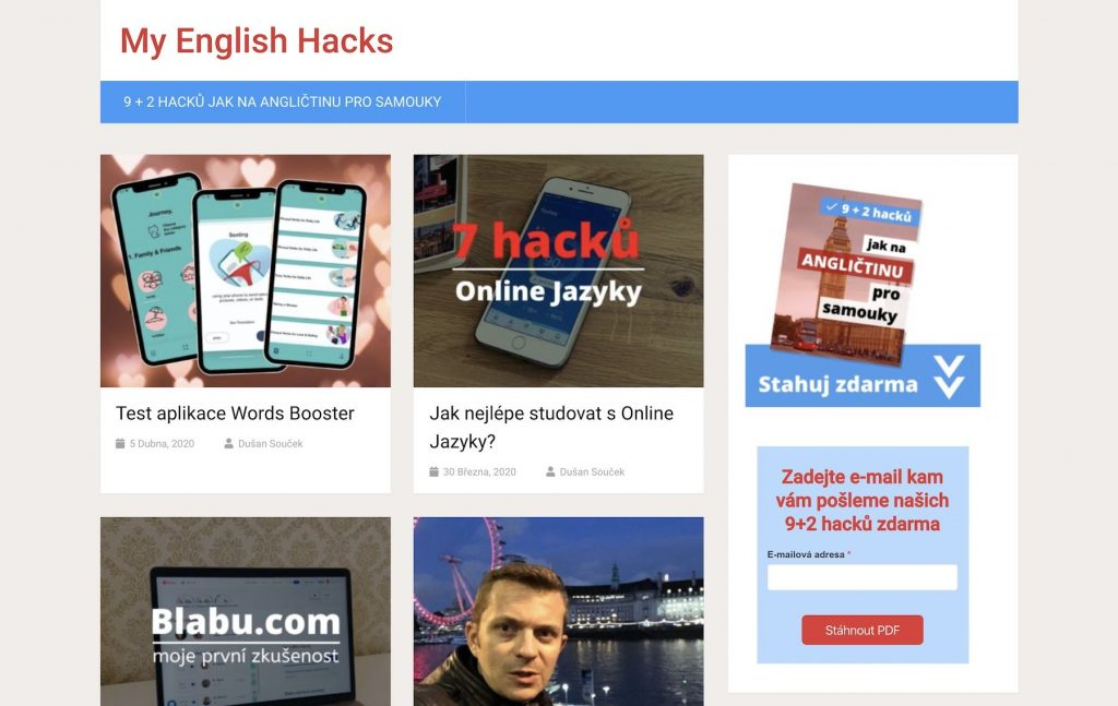 my english hacks dusan soucek