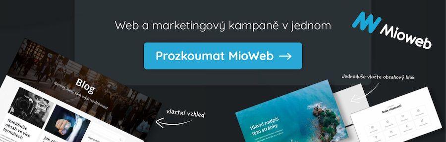 MioWeb - marketingově výkonný web