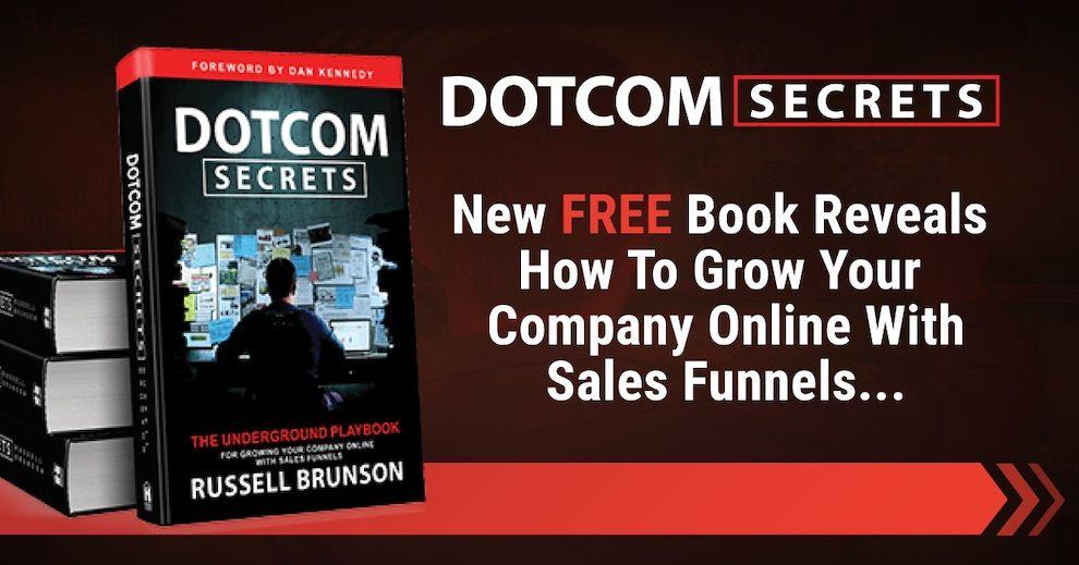 DotCom Secrets Russell Brunson - knížka zapoštovné