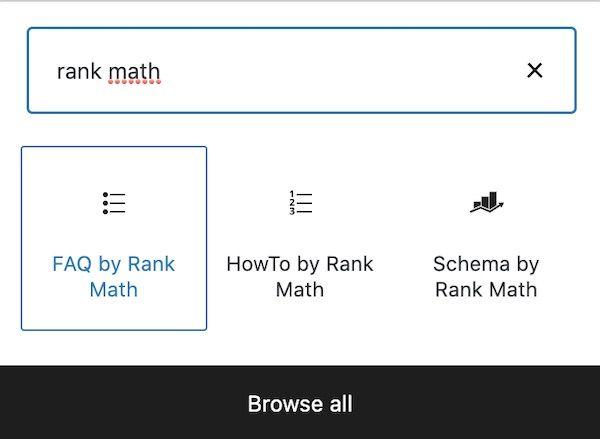SEO rank math faq modul